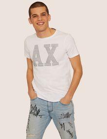 ARMANI EXCHANGE SLIM-FIT STUDDED VARSITY LOGO CREW Logo T-shirt [*** pickupInStoreShippingNotGuaranteed_info ***] f