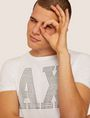 ARMANI EXCHANGE SLIM-FIT STUDDED VARSITY LOGO CREW Logo T-shirt [*** pickupInStoreShippingNotGuaranteed_info ***] a