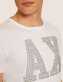 ARMANI EXCHANGE SLIM-FIT STUDDED VARSITY LOGO CREW Logo T-shirt [*** pickupInStoreShippingNotGuaranteed_info ***] b