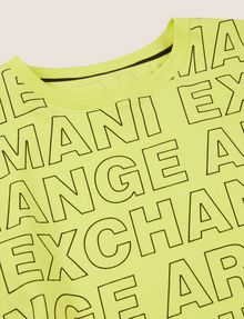 ARMANI EXCHANGE BOYS LOOSE-FIT ALLOVER LOGO CREW Logo T-shirt [*** pickupInStoreShippingNotGuaranteed_info ***] d
