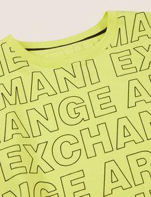 ARMANI EXCHANGE BOYS LOOSE-FIT ALLOVER LOGO CREW Logo T-shirt [*** pickupInStoreShippingNotGuaranteed_info ***] d