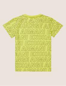 ARMANI EXCHANGE BOYS LOOSE-FIT ALLOVER LOGO CREW Logo T-shirt [*** pickupInStoreShippingNotGuaranteed_info ***] r