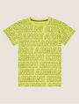 ARMANI EXCHANGE BOYS LOOSE-FIT ALLOVER LOGO CREW Logo T-shirt [*** pickupInStoreShippingNotGuaranteed_info ***] f