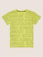 ARMANI EXCHANGE BOYS LOOSE-FIT ALLOVER LOGO CREW Logo T-shirt [*** pickupInStoreShippingNotGuaranteed_info ***] f