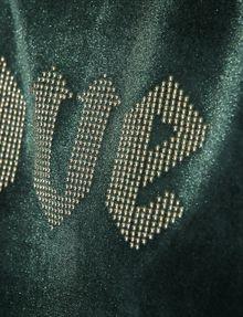 ARMANI EXCHANGE STUDDED VELVET LOVE TOP Graphic T-shirt [*** pickupInStoreShipping_info ***] b