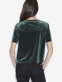 ARMANI EXCHANGE STUDDED VELVET LOVE TOP Graphic T-shirt [*** pickupInStoreShipping_info ***] e