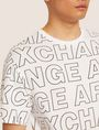 ARMANI EXCHANGE LOOSE-FIT ALLOVER LOGO PRINT CREW Logo T-shirt [*** pickupInStoreShippingNotGuaranteed_info ***] b