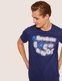 ARMANI EXCHANGE SLIM-FIT NEON SIGN CREW Logo T-shirt [*** pickupInStoreShippingNotGuaranteed_info ***] a
