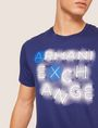 ARMANI EXCHANGE SLIM-FIT NEON SIGN CREW Logo T-shirt [*** pickupInStoreShippingNotGuaranteed_info ***] b