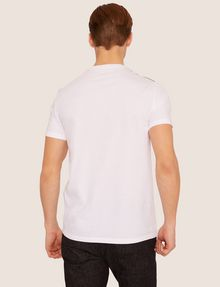 ARMANI EXCHANGE SLIM-FIT GEO LOGO COLORBLOCK CREW Logo T-shirt [*** pickupInStoreShippingNotGuaranteed_info ***] e