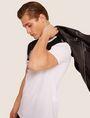 ARMANI EXCHANGE SLIM-FIT GEO LOGO COLORBLOCK CREW Logo T-shirt [*** pickupInStoreShippingNotGuaranteed_info ***] a