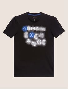 ARMANI EXCHANGE SLIM-FIT NEON SIGN CREW Logo T-shirt [*** pickupInStoreShippingNotGuaranteed_info ***] r