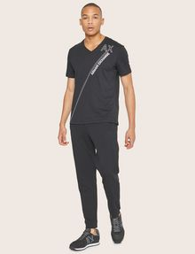 ARMANI EXCHANGE METALLIC DIAGONAL LOGO V-NECK Logo T-shirt [*** pickupInStoreShippingNotGuaranteed_info ***] d