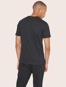 ARMANI EXCHANGE METALLIC DIAGONAL LOGO V-NECK Logo T-shirt [*** pickupInStoreShippingNotGuaranteed_info ***] e