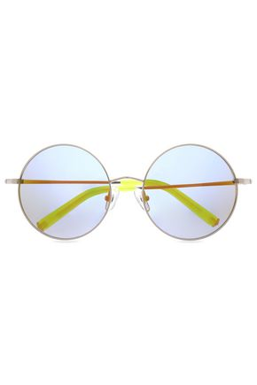 MATTHEW WILLIAMSON Round-frame gold-tone sunglasses