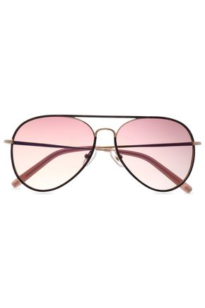 MATTHEW WILLIAMSON Aviator-style tortoiseshell acetate and gold-tone sunglasses