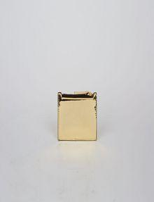 ARMANI EXCHANGE HIGH-SHINE METALLIC TOP-ZIP CARDCASE Wallet Woman d