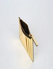 ARMANI EXCHANGE HIGH-SHINE METALLIC TOP-ZIP CARDCASE Wallet [*** pickupInStoreShipping_info ***] r