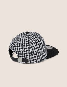ARMANI EXCHANGE HOUNDSTOOTH EMBROIDERED LOGO HAT Hat [*** pickupInStoreShippingNotGuaranteed_info ***] r
