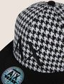 ARMANI EXCHANGE HOUNDSTOOTH EMBROIDERED LOGO HAT Hat [*** pickupInStoreShippingNotGuaranteed_info ***] d
