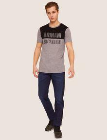 ARMANI EXCHANGE SLIM-FIT GEO LOGO COLORBLOCK CREW Logo T-shirt [*** pickupInStoreShippingNotGuaranteed_info ***] d