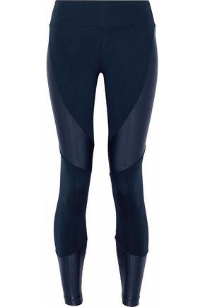 KORAL Metallic-paneled stretch leggings