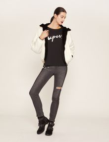 ARMANI EXCHANGE CUTOUT ADJECTIVE CREW Graphic T-shirt Woman d