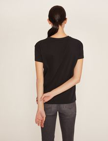 ARMANI EXCHANGE CUTOUT ADJECTIVE CREW Graphic T-shirt Woman e