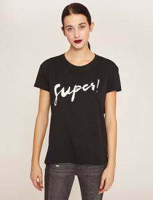 ARMANI EXCHANGE CUTOUT ADJECTIVE CREW Graphic T-shirt Woman f