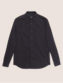 ARMANI EXCHANGE REGULAR-FIT MICRO PLAID SHIRT Checked Shirt [*** pickupInStoreShippingNotGuaranteed_info ***] r