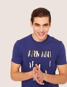 ARMANI EXCHANGE REGULAR-FIT SLICED LOGO CREW Graphic T-shirt [*** pickupInStoreShippingNotGuaranteed_info ***] a