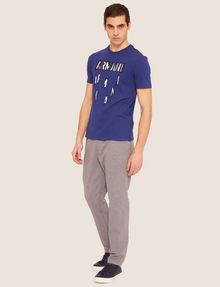 ARMANI EXCHANGE REGULAR-FIT SLICED LOGO CREW Graphic T-shirt [*** pickupInStoreShippingNotGuaranteed_info ***] d
