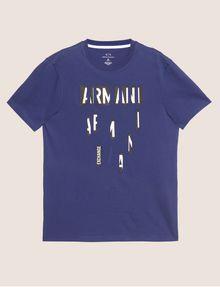 ARMANI EXCHANGE REGULAR-FIT SLICED LOGO CREW Graphic T-shirt [*** pickupInStoreShippingNotGuaranteed_info ***] r