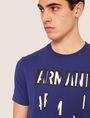 ARMANI EXCHANGE REGULAR-FIT SLICED LOGO CREW Graphic T-shirt [*** pickupInStoreShippingNotGuaranteed_info ***] b