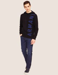 ARMANI EXCHANGE LOGO KNIT SWEATER HOODIE Knit Top Man d