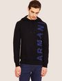 ARMANI EXCHANGE LOGO KNIT SWEATER HOODIE Knit Top Man f