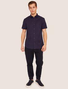 ARMANI EXCHANGE REGULAR-FIT SHORT-SLEEVE RIB LOGO SHIRT Striped Shirt [*** pickupInStoreShippingNotGuaranteed_info ***] d
