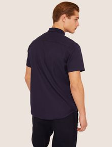 ARMANI EXCHANGE REGULAR-FIT SHORT-SLEEVE RIB LOGO SHIRT Striped Shirt [*** pickupInStoreShippingNotGuaranteed_info ***] e