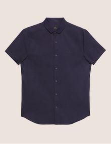 ARMANI EXCHANGE REGULAR-FIT SHORT-SLEEVE RIB LOGO SHIRT Striped Shirt [*** pickupInStoreShippingNotGuaranteed_info ***] r