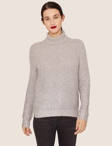 ARMANI EXCHANGE FOIL COATED WOOL-BLEND TURTLENECK Turtleneck [*** pickupInStoreShipping_info ***] f
