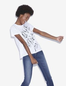 ARMANI EXCHANGE WOMEN'S STREET ART BY POMME CHAN CREWNECK TEE Graphic T-shirt [*** pickupInStoreShipping_info ***] a