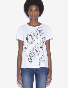 ARMANI EXCHANGE WOMEN'S STREET ART BY POMME CHAN CREWNECK TEE Graphic T-shirt [*** pickupInStoreShipping_info ***] f