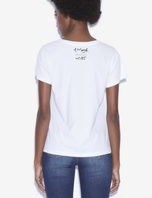 ARMANI EXCHANGE WOMEN'S STREET ART BY TIM MARSH CREWNECK TEE Graphic T-shirt [*** pickupInStoreShipping_info ***] e