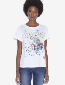 ARMANI EXCHANGE WOMEN'S STREET ART BY TIM MARSH CREWNECK TEE Graphic T-shirt [*** pickupInStoreShipping_info ***] f