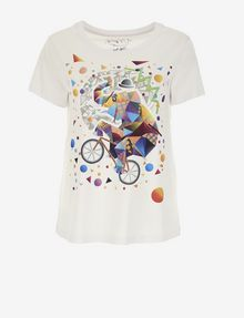ARMANI EXCHANGE WOMEN'S STREET ART BY TIM MARSH CREWNECK TEE Graphic T-shirt [*** pickupInStoreShipping_info ***] r