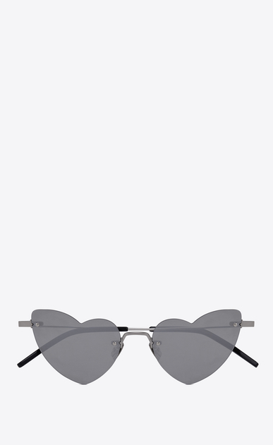 SAINT LAURENT NEW WAVE Woman NEW WAVE LOULOU 254 heart silver-toned sunglasses a_V4