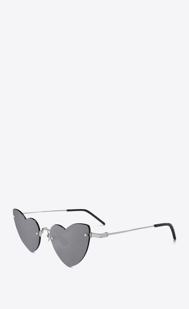 SAINT LAURENT NEW WAVE Woman NEW WAVE LOULOU 254 heart silver-toned sunglasses b_V4