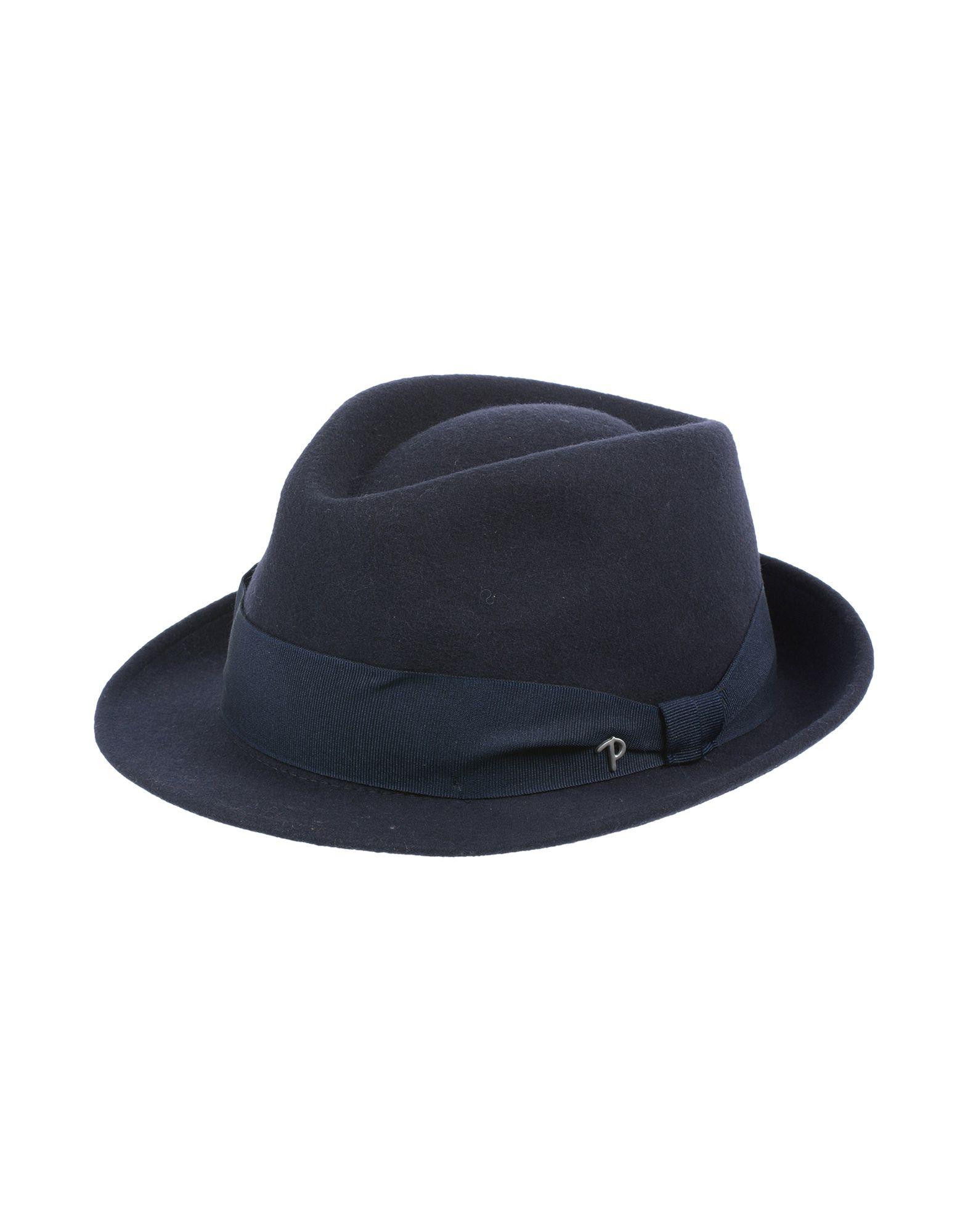 《送料無料》PANIZZA メンズ 帽子 ダークブルー 59 ウール 100%