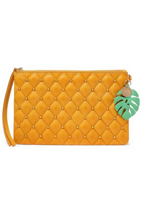 SEE BY CHLOÉ Studded quilted leather pouch