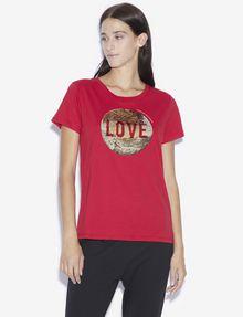 ARMANI EXCHANGE LOVE T-SHIRT MIT WENDEPAILLETTEN T-Shirt mit Grafik [*** pickupInStoreShipping_info ***] f
